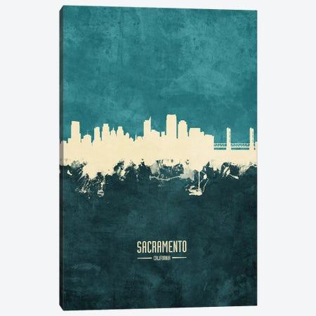 Sacramento California Skyline Canvas Print #MTO1978} by Michael Tompsett Canvas Wall Art