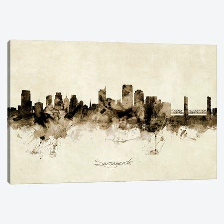 Sacramento California Skyline 3-Piece Canvas #MTO1979} by Michael Tompsett Canvas Wall Art