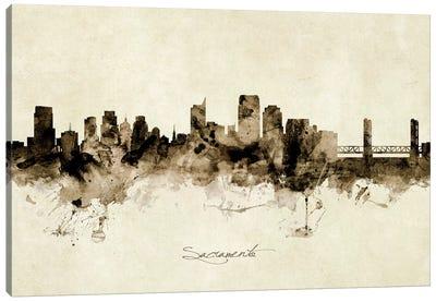 Sacramento California Skyline Canvas Art Print
