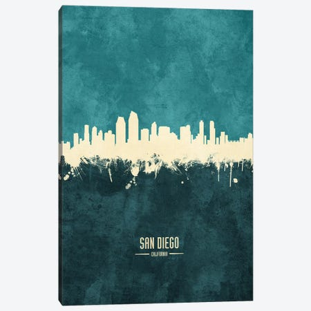 San Diego California Skyline Canvas Print #MTO1981} by Michael Tompsett Canvas Art Print