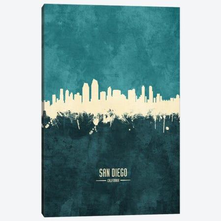San Diego California Skyline Canvas Print #MTO1981} by Michael Tompsett Canvas Art Print