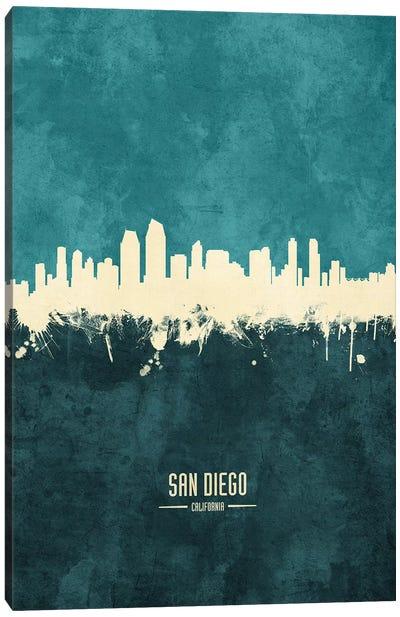 San Diego California Skyline Canvas Art Print
