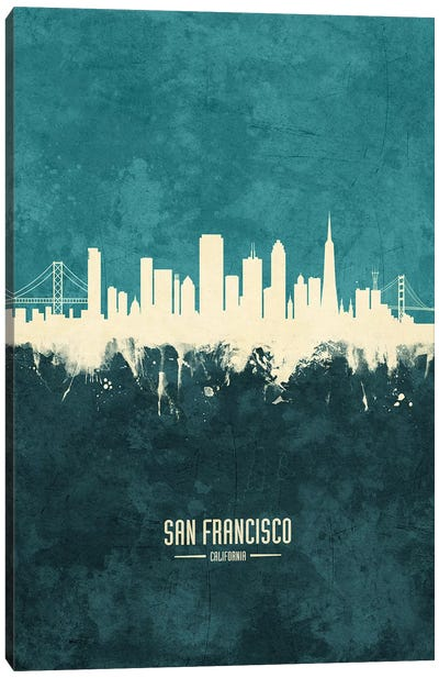 San Francisco California Skyline Canvas Art Print
