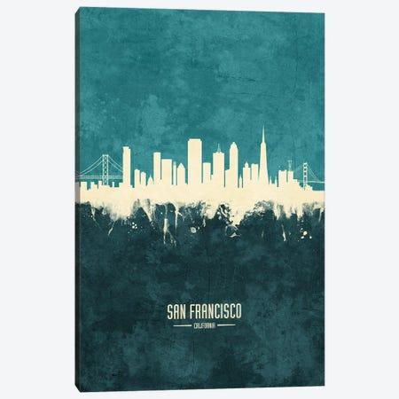 San Francisco California Skyline Canvas Print #MTO1983} by Michael Tompsett Canvas Art Print