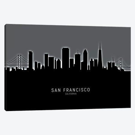 San Francisco California Skyline Canvas Print #MTO1986} by Michael Tompsett Canvas Artwork