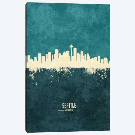 Seattle Washington Skyline Canvas Print #MTO1987} by Michael Tompsett Canvas Art