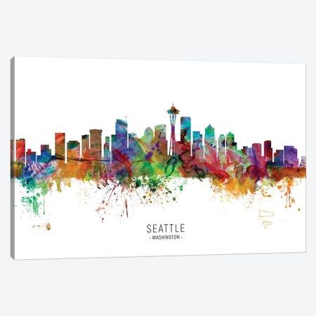 Seattle Washington Skyline Canvas Print #MTO1988} by Michael Tompsett Canvas Art Print