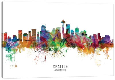 Seattle Washington Skyline Canvas Art Print