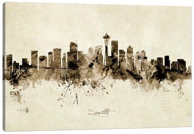 Seattle Washington Skyline Canvas Art Print