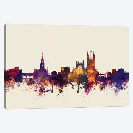 Bath, England, United Kingdom On Beige Canvas Print #MTO198} by Michael Tompsett Art Print