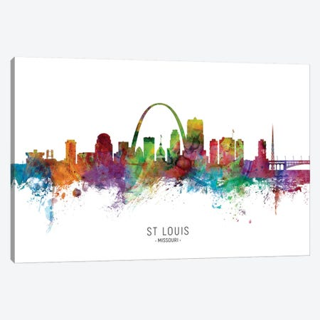 St Louis Missouri Skyline Canvas Print #MTO1991} by Michael Tompsett Canvas Art