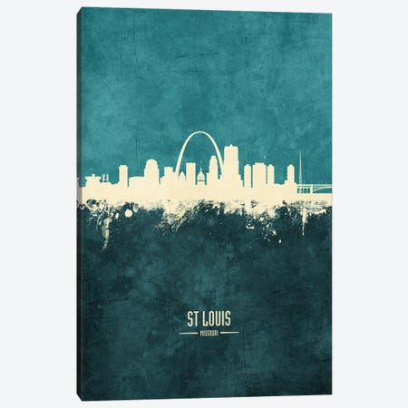 St Louis Missouri Skyline Canvas Print #MTO1992} by Michael Tompsett Canvas Art