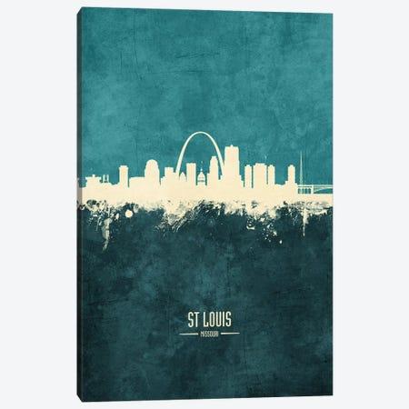 St Louis Missouri Skyline Canvas Print #MTO1992} by Michael Tompsett Canvas Art
