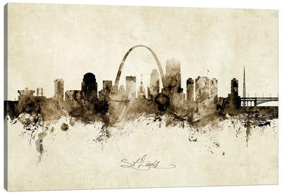 St Louis Missouri Skyline Canvas Art Print