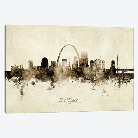 St Louis Missouri Skyline Canvas Print #MTO1993} by Michael Tompsett Canvas Art