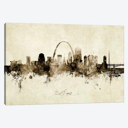 St Louis Missouri Skyline 3-Piece Canvas #MTO1993} by Michael Tompsett Canvas Art