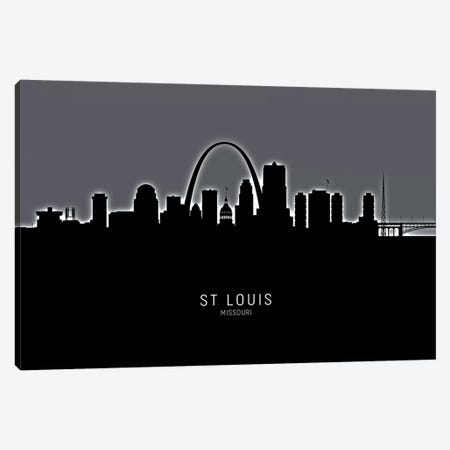 St Louis Missouri Skyline Canvas Print #MTO1994} by Michael Tompsett Canvas Print