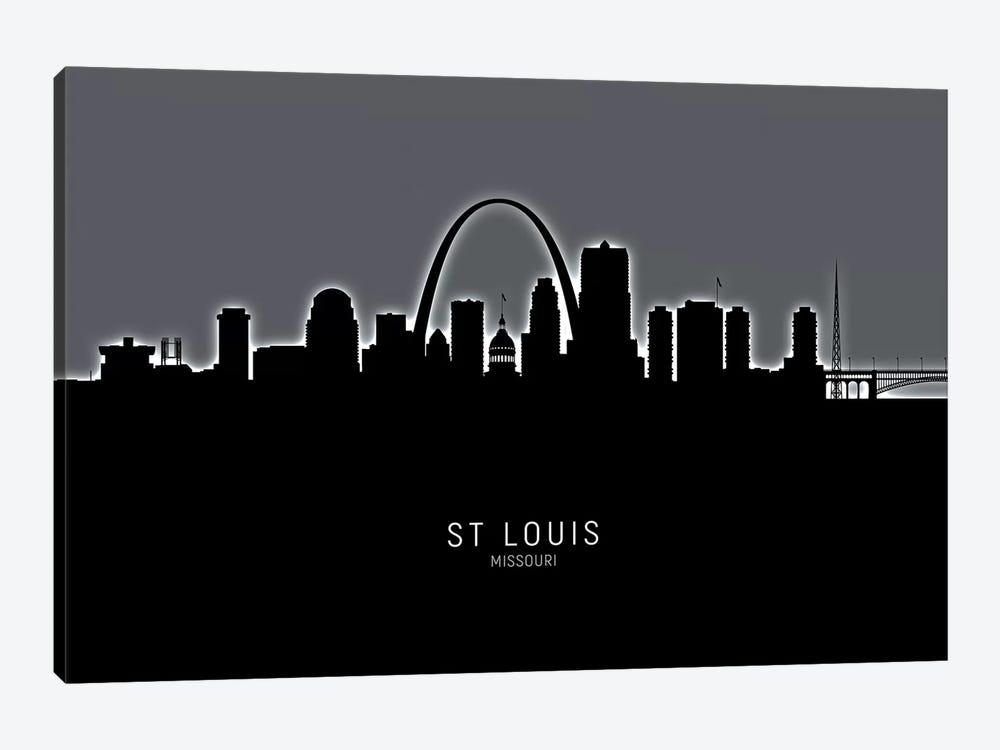 St Louis Missouri Skyline by Michael Tompsett 1-piece Canvas Artwork