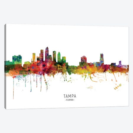Tampa Florida Skyline Canvas Print #MTO1995} by Michael Tompsett Art Print