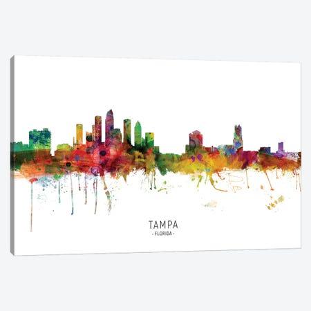 Tampa Florida Skyline Canvas Print #MTO1995} by Michael Tompsett Art Print
