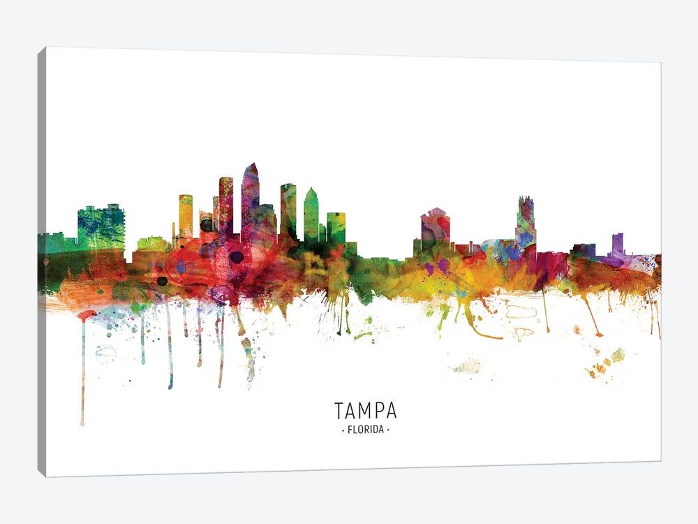 Tampa Florida Skyline by Michael Tompsett 1-piece Art Print