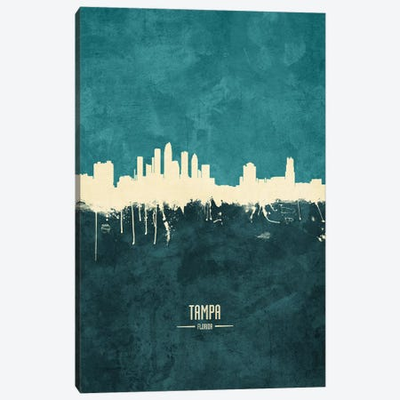 Tampa Florida Skyline Canvas Print #MTO1996} by Michael Tompsett Art Print