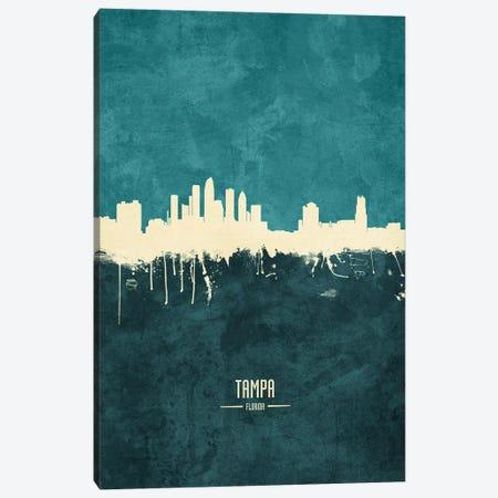 Tampa Florida Skyline Canvas Print #MTO1996} by Michael Tompsett Art Print