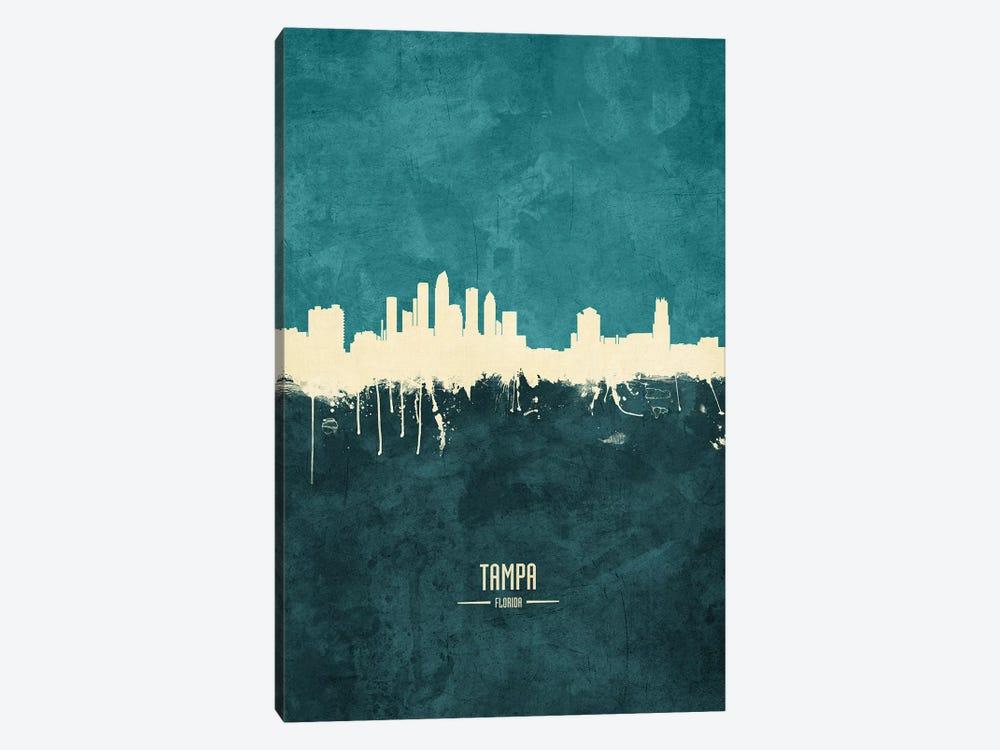 Tampa Florida Skyline by Michael Tompsett 1-piece Canvas Wall Art