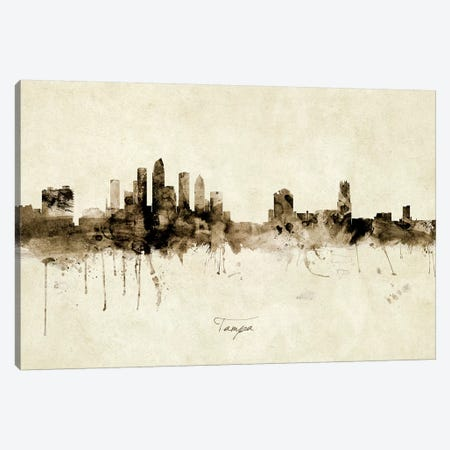 Tampa Florida Skyline Canvas Print #MTO1997} by Michael Tompsett Canvas Print