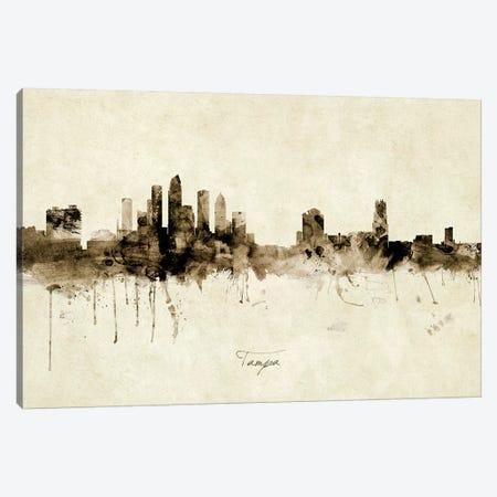 Tampa Florida Skyline Canvas Print #MTO1997} by Michael Tompsett Canvas Print