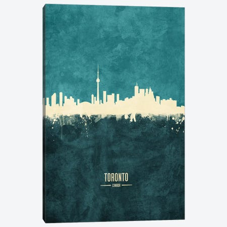 Toronto Canada Skyline Canvas Print #MTO1998} by Michael Tompsett Canvas Artwork