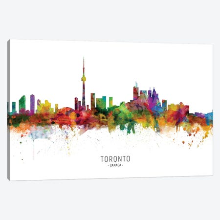 Toronto Canada Skyline Canvas Print #MTO1999} by Michael Tompsett Canvas Art