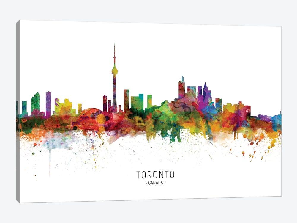 Toronto Canada Skyline by Michael Tompsett 1-piece Canvas Print