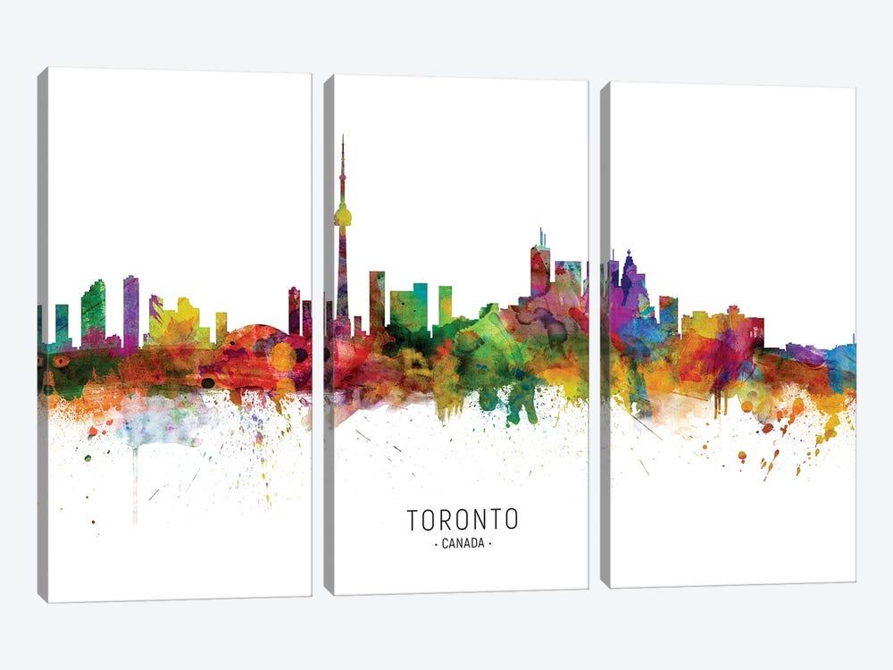 Toronto Canada Skyline by Michael Tompsett 3-piece Canvas Art Print