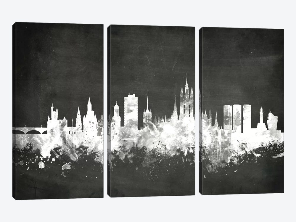 Blackboard Skyline Series: Aberdeen, Scotland, United Kingdom by Michael Tompsett 3-piece Canvas Artwork
