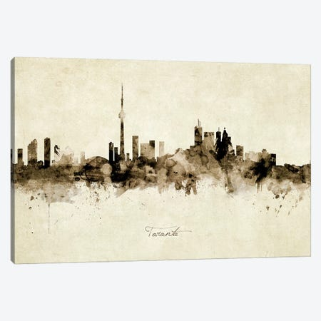 Toronto Canada Skyline Canvas Print #MTO2000} by Michael Tompsett Canvas Artwork