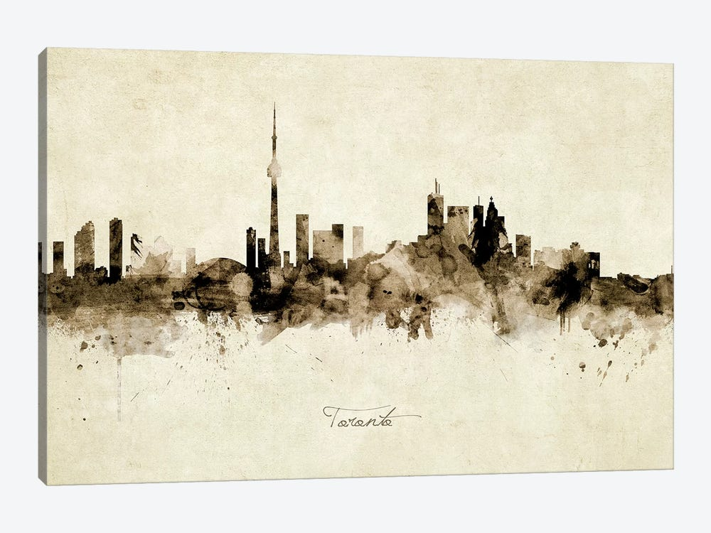 Toronto Canada Skyline by Michael Tompsett 1-piece Canvas Art Print