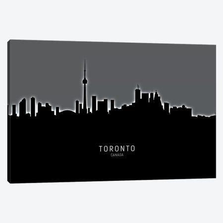 Toronto Canada Skyline Canvas Print #MTO2001} by Michael Tompsett Canvas Artwork