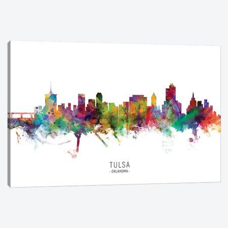 Tulsa Oklahoma Skyline Canvas Print #MTO2002} by Michael Tompsett Canvas Artwork