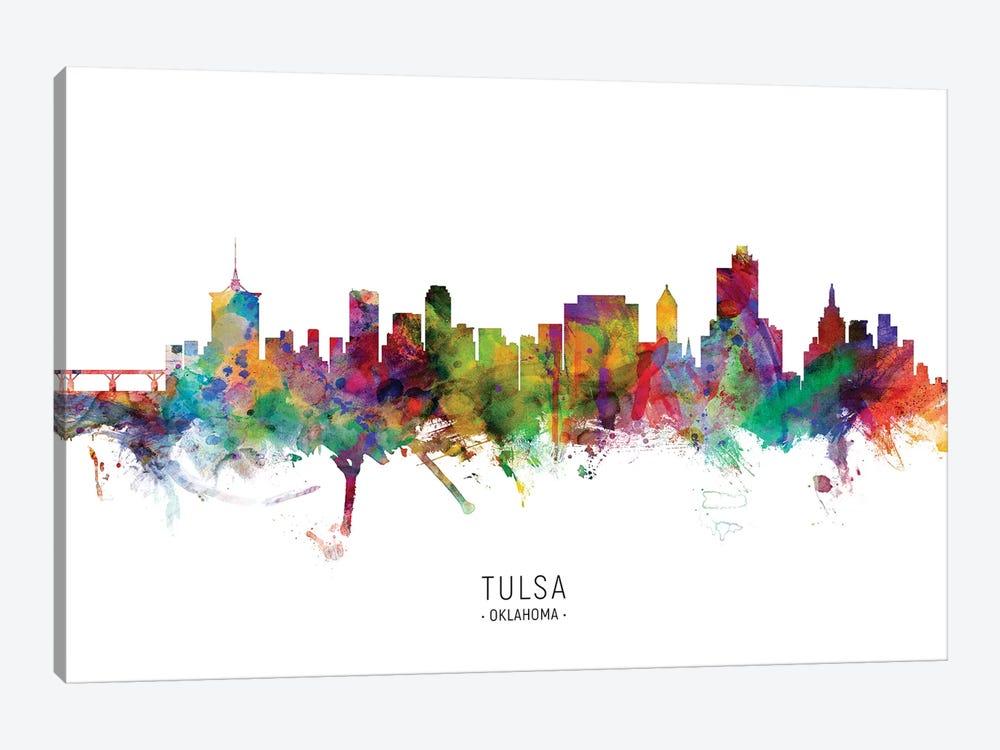 Tulsa Oklahoma Skyline by Michael Tompsett 1-piece Canvas Art Print