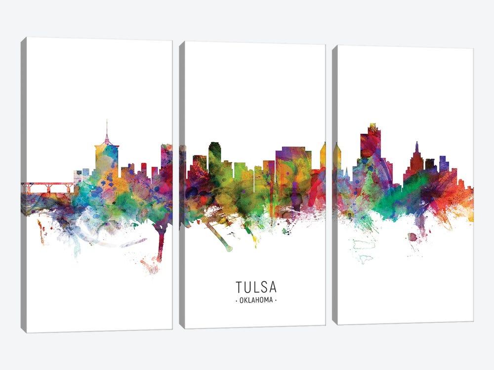 Tulsa Oklahoma Skyline by Michael Tompsett 3-piece Canvas Print