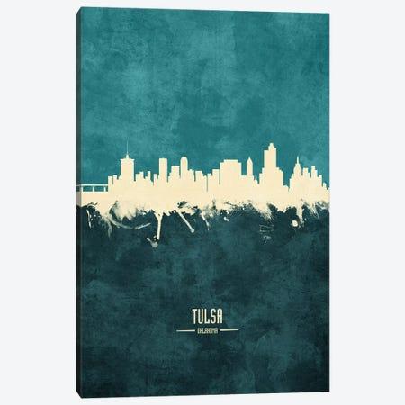 Tulsa Oklahoma Skyline Canvas Print #MTO2003} by Michael Tompsett Canvas Art