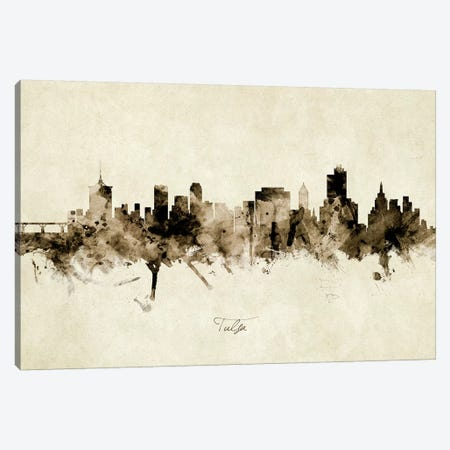 Tulsa Oklahoma Skyline Canvas Print #MTO2004} by Michael Tompsett Canvas Art Print