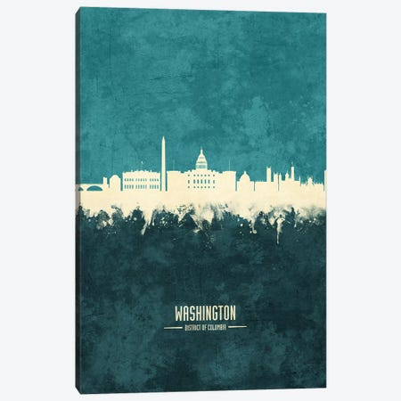 Washington DC Skyline Canvas Print #MTO2006} by Michael Tompsett Canvas Art Print