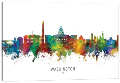Washington DC Skyline Canvas Art Print