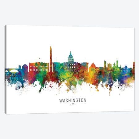 Washington DC Skyline Canvas Print #MTO2007} by Michael Tompsett Art Print