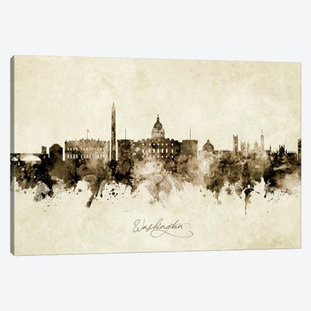 Washington DC Skyline Canvas Print #MTO2008} by Michael Tompsett Canvas Art
