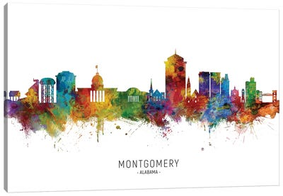 Montgomery, Alabama Skyline Canvas Art Print