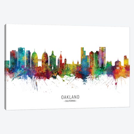 Oakland, California Skyline Canvas Print #MTO2011} by Michael Tompsett Canvas Print