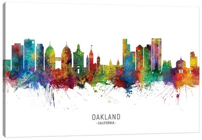 Oakland, California Skyline Canvas Art Print